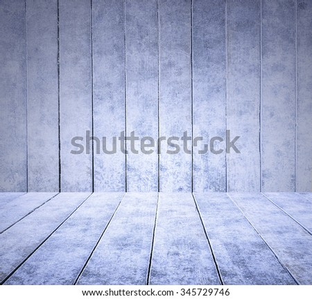 empty ice wooden deck table top Ready for product display montage with ice wooden panel background.