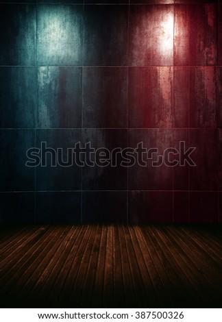 empty interior room with spots. - stock photo