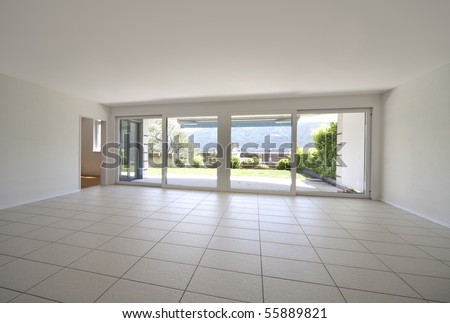 empty internal view - stock photo