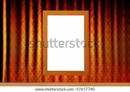 Empty isolated wood texture border frame on vintage background for picture, photo, painting, face, certificate and any art - stock photo