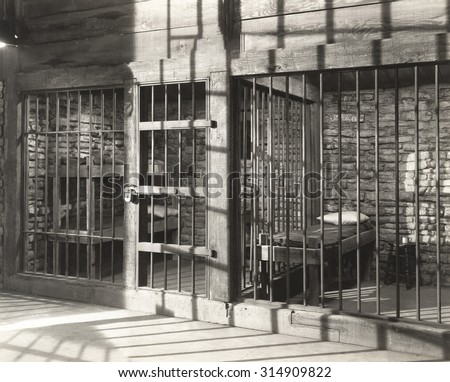 Empty Jail Cell - stock photo