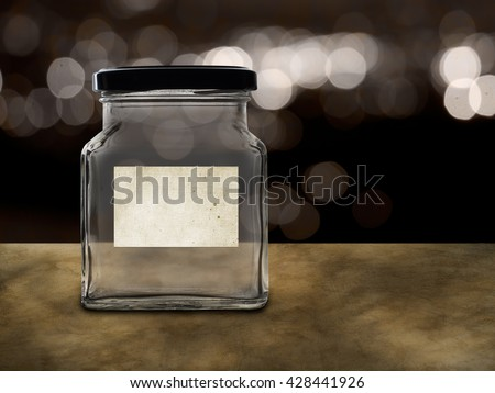 Empty jar, money pot. Many possible labels - pension, tips, school fees etc. - stock photo