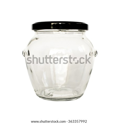 Empty jar with black cap
