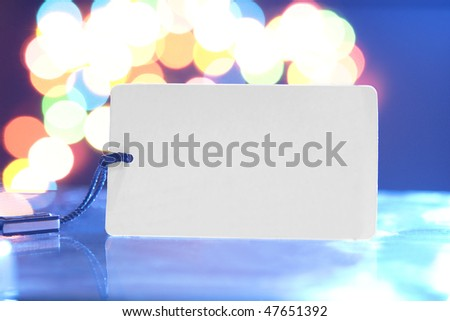 Empty label on a fantastic background - stock photo