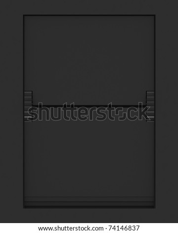 Empty Letter from a split flap mechanical board. 3D render and part of a series. - stock photo