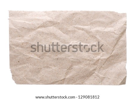 empty letter on white - stock photo