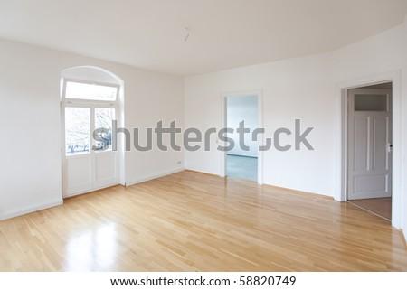 empty living room - stock photo