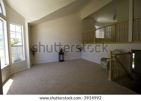 Empty Living Room in a New House - stock photo