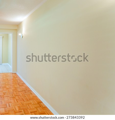Empty living room ready for interior design - stock photo