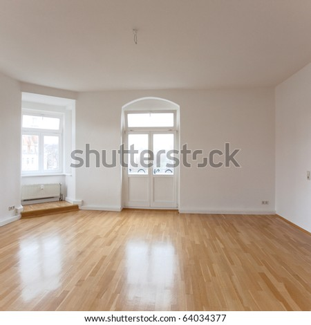 empty loft like living room - stock photo