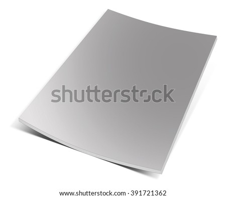 Empty magazine on white background. Perfect blank - stock photo