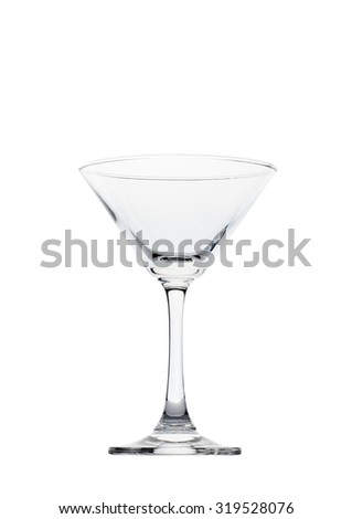 Empty martini glass isolated