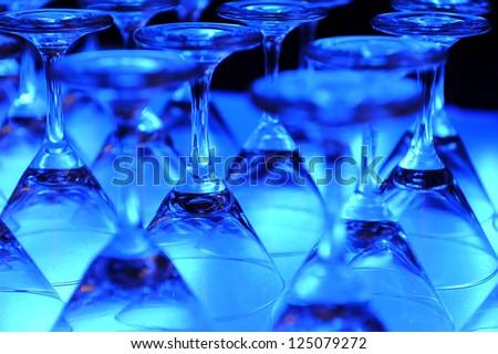 empty martini glasses - stock photo