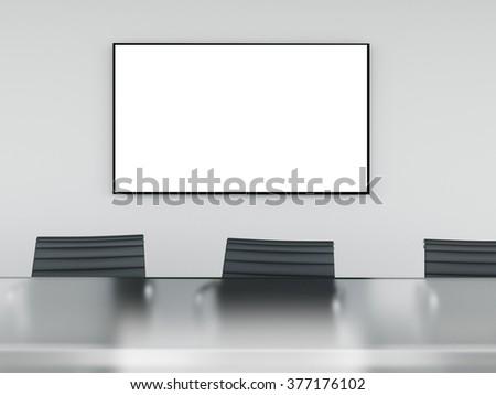 Empty meeting room. 3d rendering - stock photo