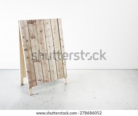 Empty menu board in interior - stock photo