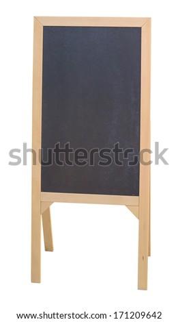 empty menu isolated on white background - stock photo