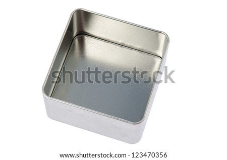 Empty metal box - stock photo