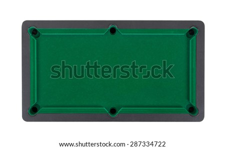 Empty miniature billiard table on a white background - stock photo