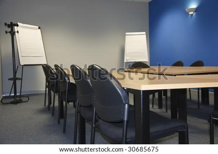 empty modern classroom or meeting room - stock photo
