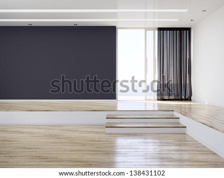 Empty Modern Room Interior - stock photo