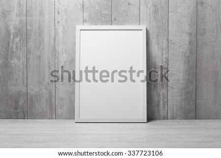 empty modern style frame on composition wall as concept - stock photo
