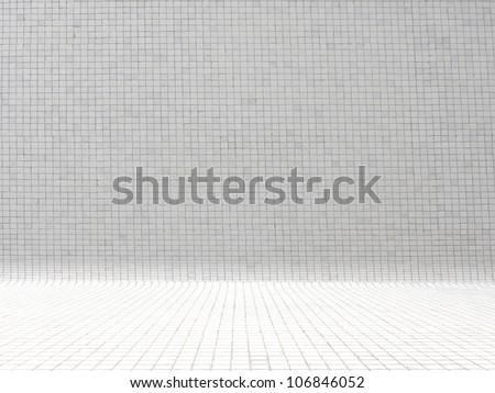 empty mosaic room - stock photo