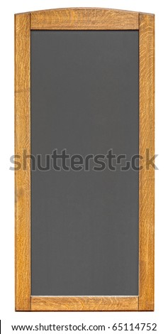 Empty notice board isolated on white background
