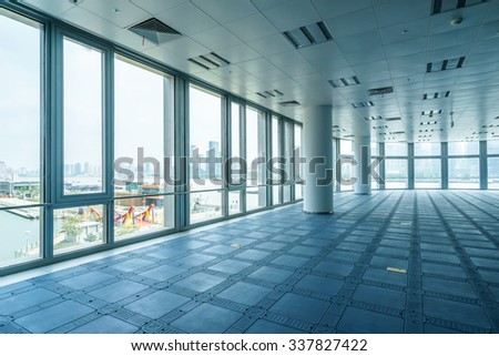 empty office room with modern style - stock photo