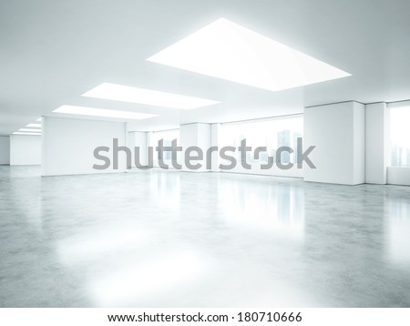 Empty office space - stock photo