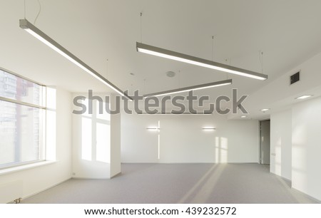 Empty office space in modern building