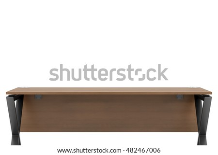 empty office workplace isolated on white background. 3d illustration