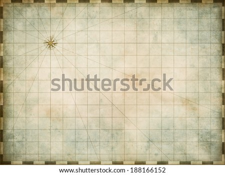 empty old map background - stock photo