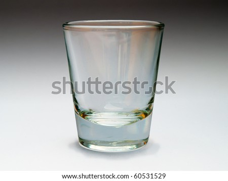 Empty one glass - stock photo