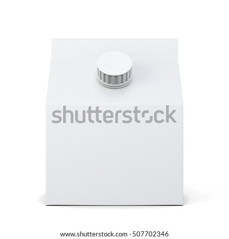 Empty packaging for beverage isolated. 3d rendering.