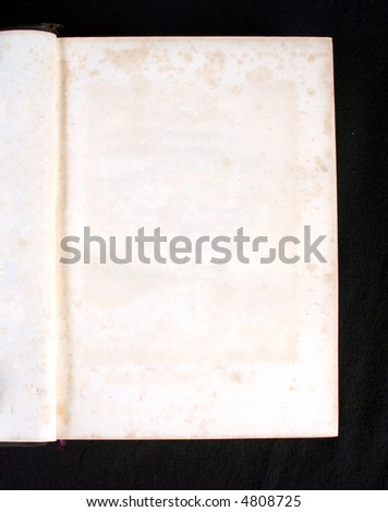 empty page in old book with stains