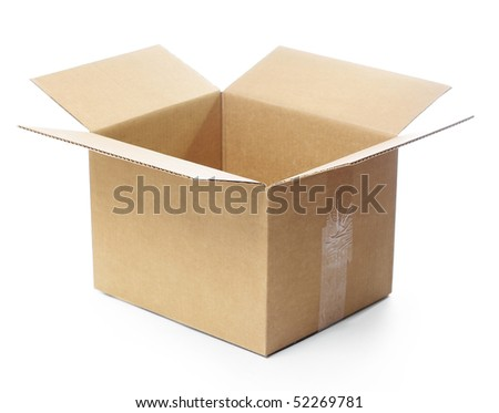 Empty paper box isolated on white