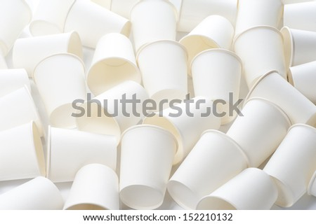 Empty Paper cups background - stock photo