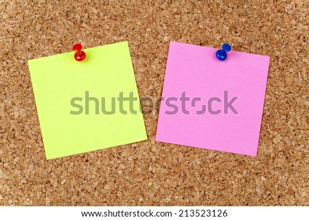 Empty Paper Note - stock photo