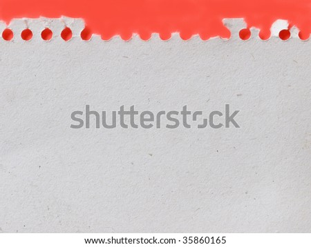 empty paper on red background - stock photo
