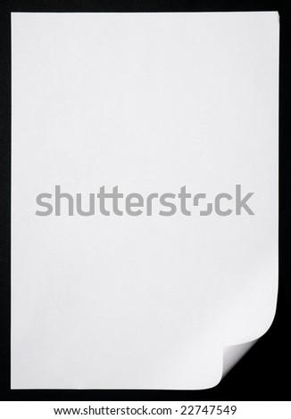 Empty paper over dark background - stock photo