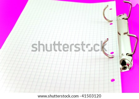 empty paper sheet in bright office folder. small GRIP - stock photo