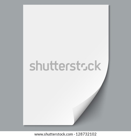 Empty paper sheet.Raster version - stock photo