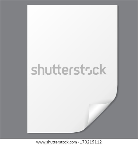 Empty paper sheet with folded corner  - stock photo