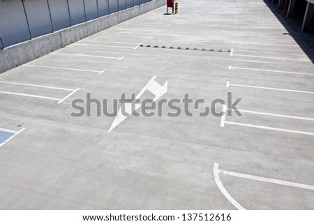 Empty parking for cars