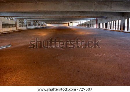 Empty parking garage - stock photo