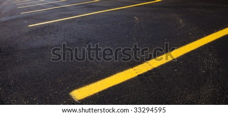 empty parking lot wide aspect ratio - stock photo