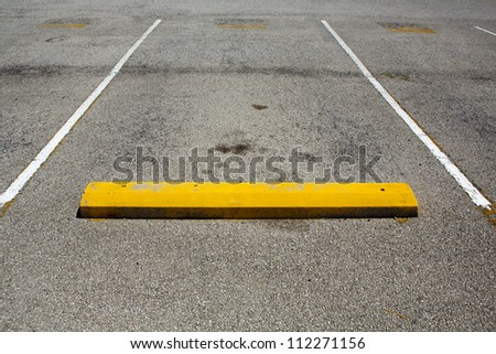Empty Parking Space with room for copy - stock photo