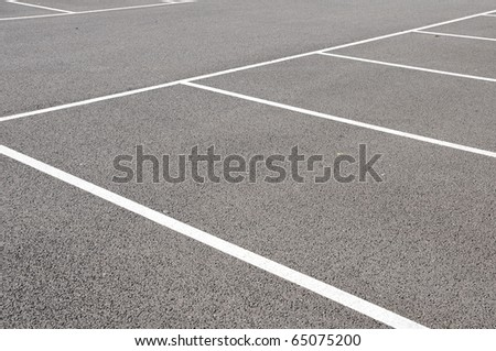 Empty Parking Spaces - stock photo