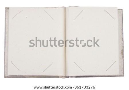 Empty photo album  - stock photo