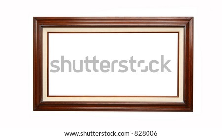 empty picture frame waiting for your art work - stock photo